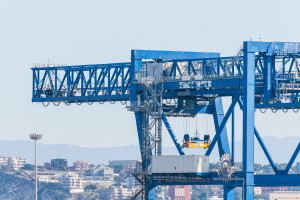 Cranes at the port channel